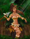 Nidalee - League of Legends by kwakbyeol