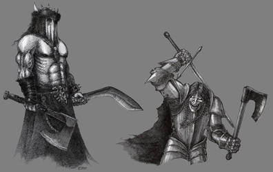 Some chaos characters by Skirill