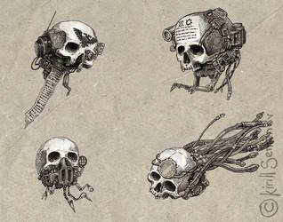 Servo skulls by Skirill