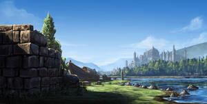 Boat and river by eddieshred