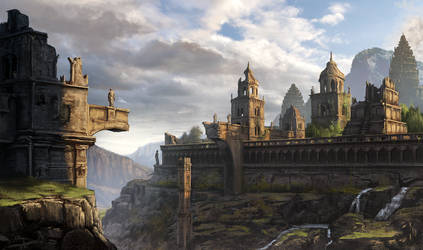 Bridge ruins by eddieshred