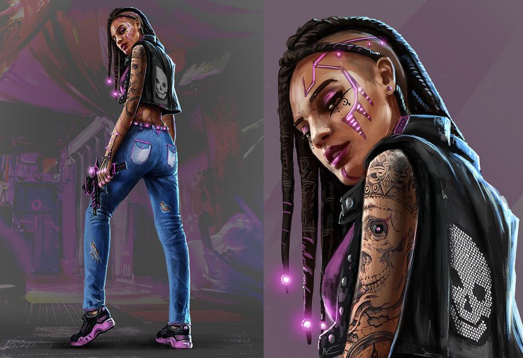 Punk Girl 1 by eddieshred