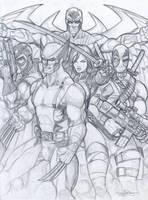 Uncanny X-Force Pencils by Dingodile24