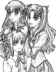 FSN girls by PeterPrime