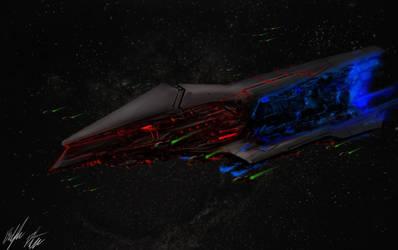 Lemurian Advanced Battleship by PeterPrime