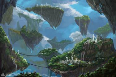 Floating Islands by PeterPrime