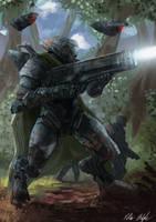 XL-34 Tracker Battle Armor by PeterPrime