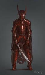 Crimson Rider Alaric by PeterPrime