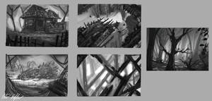 Environment sketches by PeterPrime
