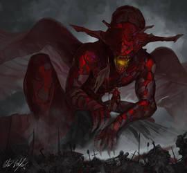 Crimson Rider by PeterPrime