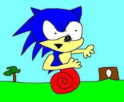 Sonic the hedgehog by chasethehedgehog