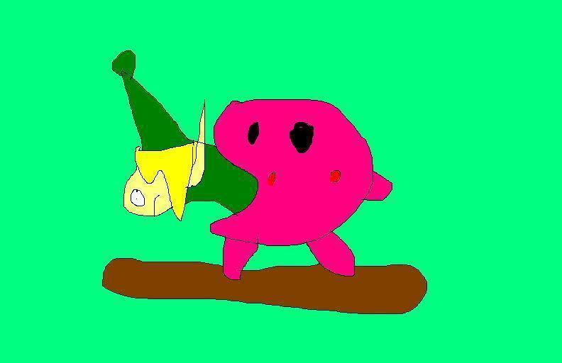 Kirby vs link by chasethehedgehog