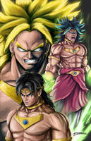 Broly the legendary Super Saiyan by AveryMoneco