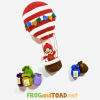 Calendrier de l'avent montgolfiere by FROG-and-TOAD