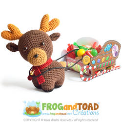 Renne Reindeer Amigurumi Pattern by FROG-and-TOAD