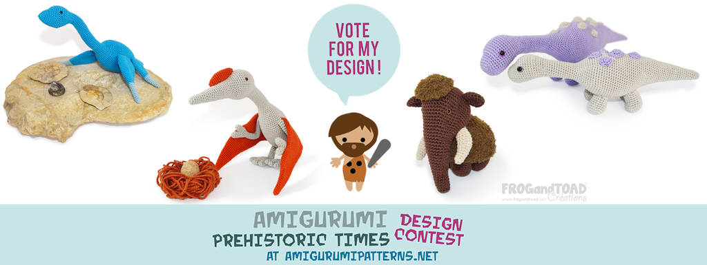 AmigurumiPatterns.net Design Contest Entries by FROG-and-TOAD