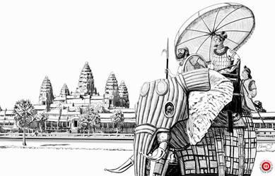 Teshan War Elephant by MikePerryArt