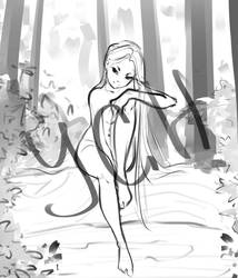 [Close] YCH Auction: In the forest by Lonary