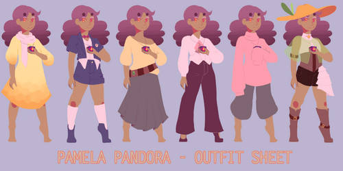 OC : pammie outfit ref by neon-nuisance