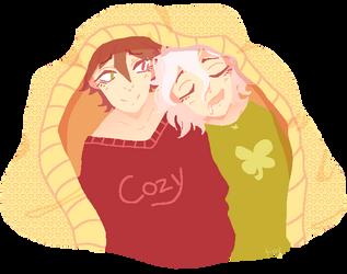 komahina cuddles by neon-nuisance
