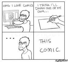 Making A Comic by PlaidSheep