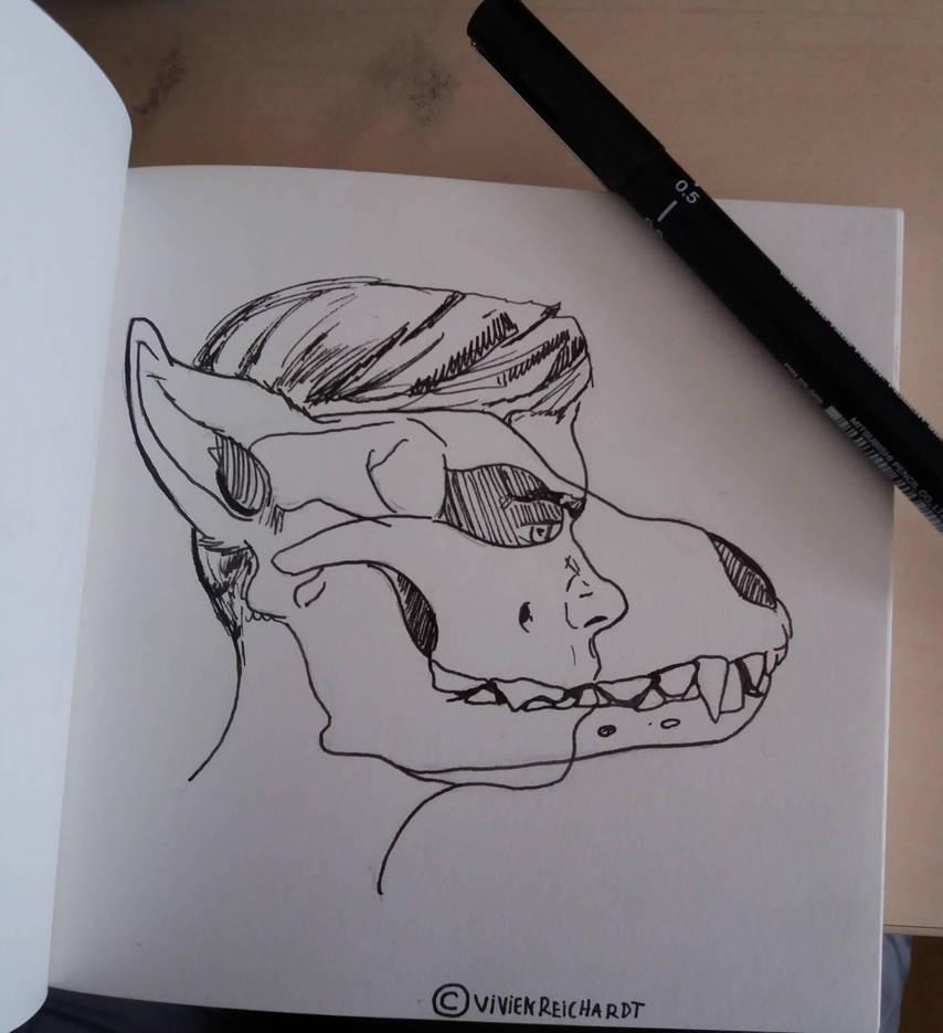 Animal in all of us- Sketchbook upload by Deep6Howl