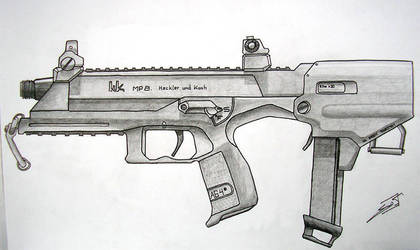 MP8 drawing by Armalite