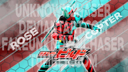 Kamen Rider Build - RoseCopter Wallpaper by UnknownChaser