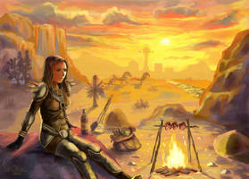 Sunset Over New Vegas by LMColver