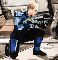 Raphael Sbarge as Kaidan Alenko by LMColver