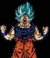 Goku Supa Saiyajin Buru 100% by UrielALV