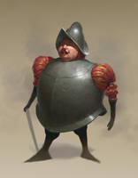 Conquistador Tiny Person by Emiljart