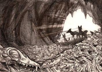 Hollow of whispering skulls by Culpeo-Fox