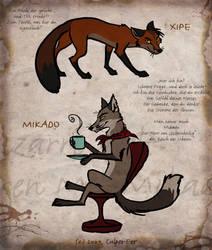 Xipe and Mikado by Culpeo-Fox