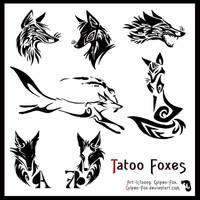 Tatoo Foxes by Culpeo-Fox