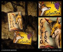 CulpeoFox Badges by Culpeo-Fox