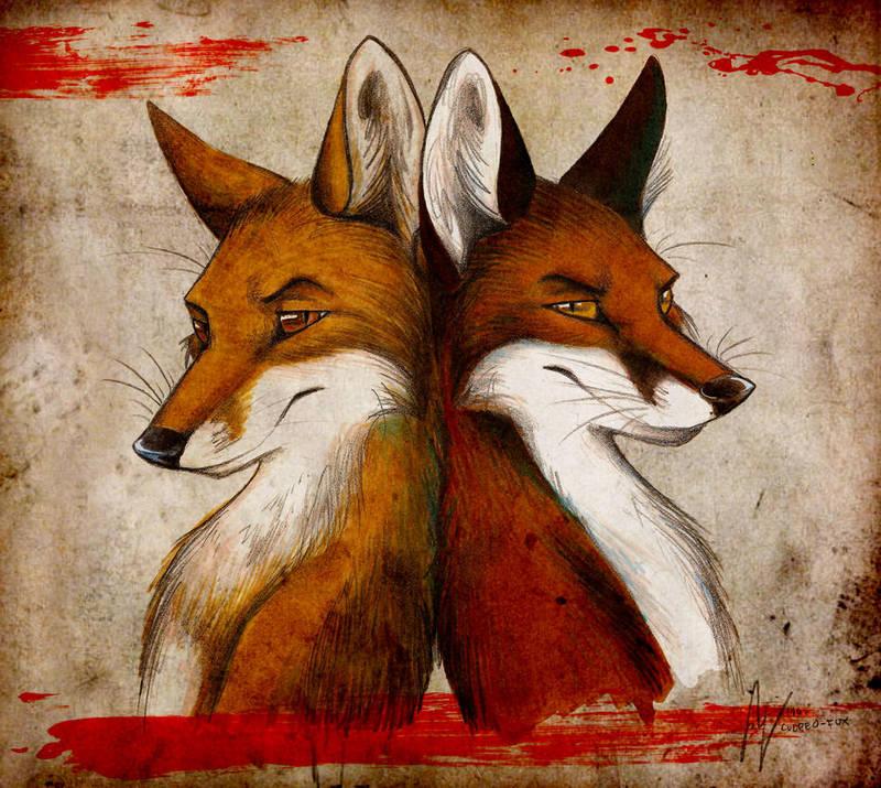 Fox and Fox by Culpeo-Fox