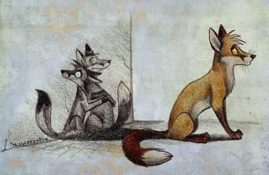 I love my shadow by Culpeo-Fox