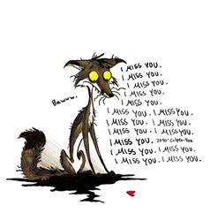 I miss you by Culpeo-Fox
