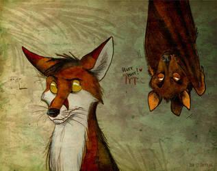 Kalong is watching by Culpeo-Fox