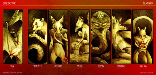 POKEMON Team Red by Culpeo-Fox