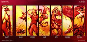 POKEMON Team Ruby by Culpeo-Fox