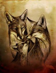 Fox Family by Culpeo-Fox