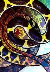 Laotian Wolf Snake by Culpeo-Fox
