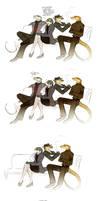 Bantering friends by Culpeo-Fox