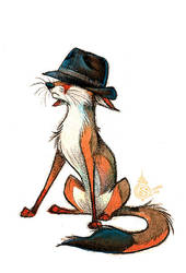Trilby Hat Fox by Culpeo-Fox