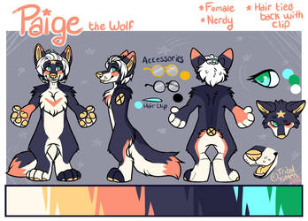 Paige ref sheet by tribalkitten97