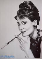 Audrey Hepburn by Indigoblau