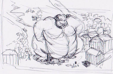 Bacchus wip by Smandraws