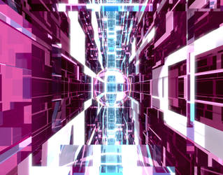 Purple Glass Tunnel by Dr-Pen